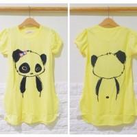 DRKD126 - Dress Anak Panda Cute Yellow