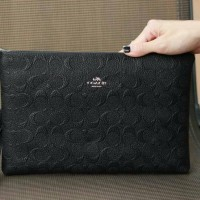 COACH CLUTCH 2RUANG BLACK ONLY #6649 #