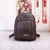 Tas Coklat Ransel Kuliah Backpack Fashion 24812 Modis Murah Cantik