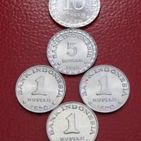 1 Set Uang Kuno 18 Rupiah Untuk Mahar ( Rp10, Rp5 dan 3pcs Rp 1)