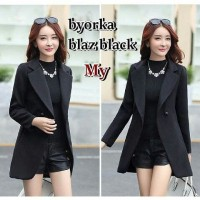 Jual Byorka Fleece Blazer warna Hitam Murah