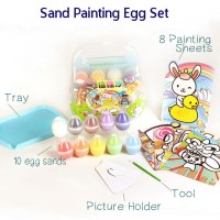 Mainan Anak - Sand Painting Egg Set Suitcase Packaging