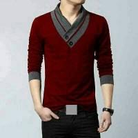 harga Minho Long Pakaian Pria Kaos Kerah V Model Korea Tokopedia.com
