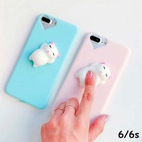 FOR IPHONE 6/6S - SQUISHY CUTE CAT SQUEEZE SOFT SILICONE CASE