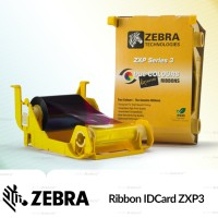 Ribbon Printer Kartu ID Card Zebra ZXP3 Black / Hitam / Monokrom