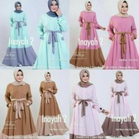 INAYAH GAMIS ABAYA KAFTAN SYARI PASHMINA 2IN1 LONG MAXI DRESS JUMBO