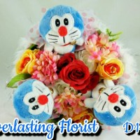 Jual Bucket Doraemon (D119) Buket Bunga Boneka Bouquet Wedding Wisuda Kado Murah