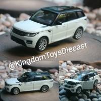 Range Rover Sport white Land Rover skala 24 miniatur welly nex diecast