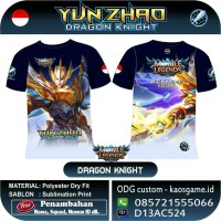 Kaos Mobile Legends YUN ZHAO - Skin Dragon Knight