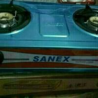 kompor gas SANEX 2tungku SNI K-608 STAINLESS STEEL