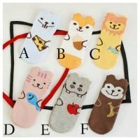 kaos kaki korea import karakter binatang antislip anak bayi unisex