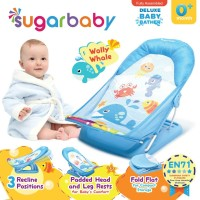 Sugar Baby Deluxe Baby Bather Wolly Whale Blue Alas Dudukan Mandi