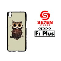 Casing HP Oppo F1 Plus coffee owl Custom Hardcase Cover