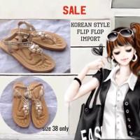 Jual SALE! Sepatu sandal wanita Korean style flip flop import size 38 Murah