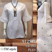 AP104 sale Blouse putih katun import lengan lebar baju atasan wanita