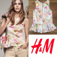 Jual H&M peplum back zip top Murah