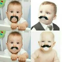 Jual Dot unik kumis bayi empeng pacifier mustache Murah