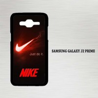 Casing Hp Samsung Galaxy J2 Prime Nike Red and Black X4236