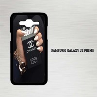Casing Hp Samsung Galaxy J2 Prime Black Chanel cigarette X4550