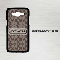 Casing Hp Samsung Galaxy J2 Prime Black Coach Logo X4186