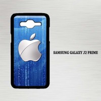 Casing Hp Samsung Galaxy J2 Prime Silver Apple Logo X4611