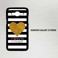Casing Hp Samsung Galaxy J2 Prime Stripes gold heart X4612