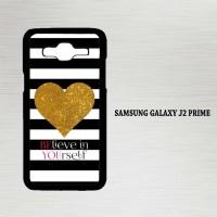 Casing Hp Samsung Galaxy J2 Prime Stripes gold heart X4612