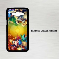 Casing Hp Samsung Galaxy J2 Prime Pokemon trainers red vs blue X4679