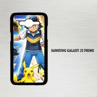 Casing Hp Samsung Galaxy J2 Prime pikachu pokemon X4660