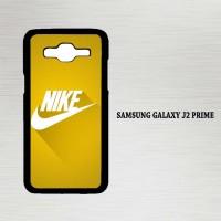 Casing Hp Samsung Galaxy J2 Prime Nike Logo Gold Texture X4392