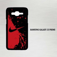 Casing Hp Samsung Galaxy J2 Prime Nike Red and Black X4356