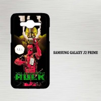 Casing Hp Samsung Galaxy J2 Prime Hulk vs Deadpool  X4655