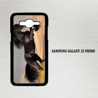Casing Hp Samsung Galaxy J2 Prime Horse black running X4653
