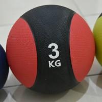 PREMIUM MEDICINE BALL 3kg / Bola Latihan Fitness Gym Basket Berat 3k