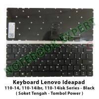 Keyboard Lenovo Ideapad 110-14 110-14ibr 110-14isk Soket Tengah