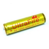 UltraFire Baterai 18650 3.7V 6000mAh Button Top Batre Senter Led Laser