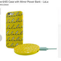 iPhone 6 / 6s Case with Mirror Power Bank 2000 mAh - Lala (beli di US)