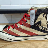 PO Converse CT All Star Hi x American Flag Totem Eagle Stripes 145507C