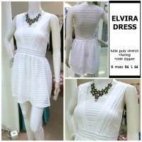 Mini Dress Pesta Party Gown Gaun Putih White