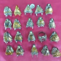 Ring Emban Cincin Cangkang Titanium Import Per Kodi Murah