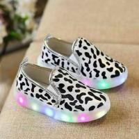 Jual Sepatu anak laki laki perempuan import Leopard LED Murah