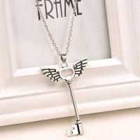 Jual Kalung Vintage Angel Wings Key Sayap Kunci Korean Murah