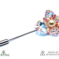 harga Brooch Swarovski - Bros Vertere Orchid Aurore Tokopedia.com