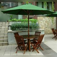 Kursi & Meja Taman Payung Jati Outdoor Santai Furniture Asli Jepara