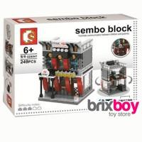Lego Sembo City Block - HSBC 249pcs Sembo SD6541 Brixboy