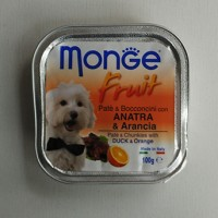 Harga makanan anjing dog food monge fruit duck orange 100 | antitipu.com