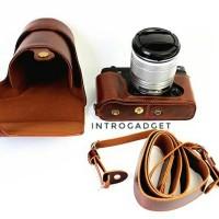 Leather Case Fujifilm XE2 XE2S Coffee Luxury Quality Full Halfcase