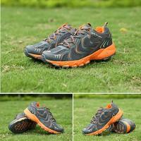 Jual Sepatu Outdoor Keta 193 - Grey Orange  / running / olahraga Murah