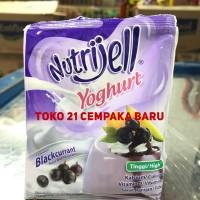 Nutrijell Yoghurt Blackcurrant 35 gr | Agar Pudding Puding Nutrijel