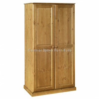 Lemari Pakaian 2 Pintu Minimalis Almari Kayu Jati Furniture Jepara